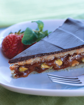 Caramel-Pistachio Torte With Halvah And Dark Chocolate Recipe - Recipe ...
